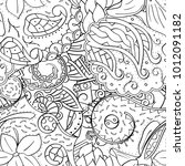 tracery seamless pattern....   Shutterstock .eps vector #1012091182