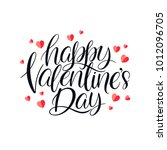 happy valentines day. beautiful ...   Shutterstock .eps vector #1012096705