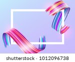white frame with abstract... | Shutterstock .eps vector #1012096738