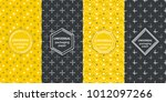 set of colourful seamless... | Shutterstock .eps vector #1012097266