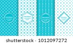 set of colourful seamless... | Shutterstock .eps vector #1012097272