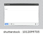 e mail blank template internet... | Shutterstock .eps vector #1012099705