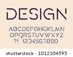 geometric technology font... | Shutterstock .eps vector #1012104595