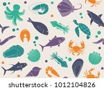 seamless background with... | Shutterstock .eps vector #1012104826