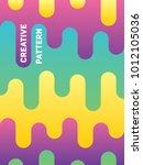 vector abstract pattern...   Shutterstock .eps vector #1012105036