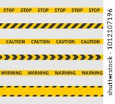 caution tape  police line and... | Shutterstock .eps vector #1012107196