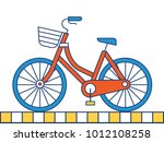bicycle icon on white background   Shutterstock .eps vector #1012108258