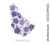 map of barbados filled with...   Shutterstock .eps vector #1012109422