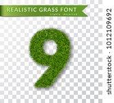 grass number nine. green number ...   Shutterstock .eps vector #1012109692