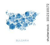 map of bulgaria filled with...   Shutterstock .eps vector #1012110172