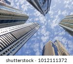 dramatic perspective with low... | Shutterstock . vector #1012111372
