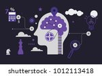 brainstorming flat concept   Shutterstock .eps vector #1012113418