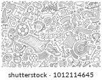 vector hand drawn doodles... | Shutterstock .eps vector #1012114645