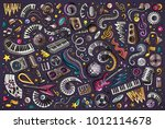 colorful vector hand drawn... | Shutterstock .eps vector #1012114678