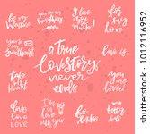 set of valentines day romantic... | Shutterstock .eps vector #1012116952