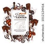 vector background for horse...   Shutterstock .eps vector #1012124416
