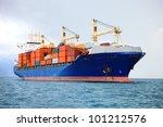 cargo container ship in... | Shutterstock . vector #101212576