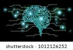 ai  artificial intelligence ... | Shutterstock . vector #1012126252