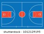 basketball court floor with... | Shutterstock .eps vector #1012129195