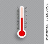 meteorology thermometers... | Shutterstock .eps vector #1012129978