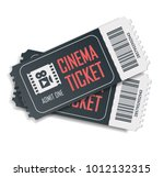 two cinema vector tickets... | Shutterstock .eps vector #1012132315