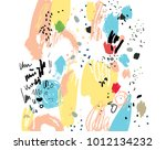 brush stroke pattern.... | Shutterstock .eps vector #1012134232