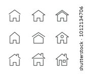 thin line icon house | Shutterstock .eps vector #1012134706