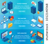data storage concept vector... | Shutterstock .eps vector #1012140568