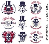 set of smokers club emblems.... | Shutterstock .eps vector #1012141252