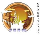 oil extraction concept vector... | Shutterstock .eps vector #1012141435
