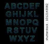 crystal texture font. vector... | Shutterstock .eps vector #1012143082