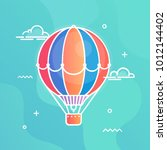 air balloon colorful vector... | Shutterstock .eps vector #1012144402