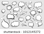 blank speech bubbles. set of... | Shutterstock .eps vector #1012145272