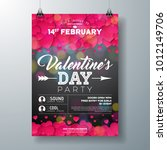 vector valentines day party... | Shutterstock .eps vector #1012149706