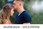 a couple in love beautiful...   Shutterstock . vector #1012150546