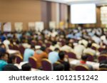 crown is listening the speaker... | Shutterstock . vector #1012151242