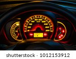 odometer speed in car | Shutterstock . vector #1012153912