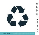 ecology  recycle icon vector... | Shutterstock .eps vector #1012155592