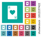 eight of hearts card multi... | Shutterstock .eps vector #1012157422