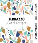 terrazzo card template. vector... | Shutterstock .eps vector #1012158226