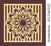 laser cutting panel. golden... | Shutterstock .eps vector #1012160212