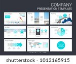 presentation slide template for ... | Shutterstock .eps vector #1012165915