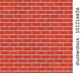 seamless vector red brick wall  ... | Shutterstock .eps vector #101216656