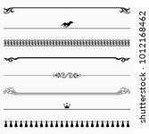 decorative dividers  set 46  | Shutterstock .eps vector #1012168462