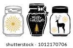 christmas design elements set.... | Shutterstock . vector #1012170706