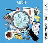 auditing  tax process... | Shutterstock .eps vector #1012171222