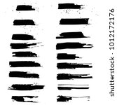 grunge ink brush strokes set.... | Shutterstock .eps vector #1012172176