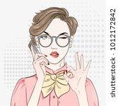 pop art vintage advertising... | Shutterstock .eps vector #1012172842