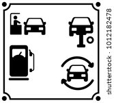 car service  set icon vector | Shutterstock .eps vector #1012182478