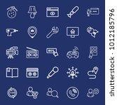 technology outline vector icon... | Shutterstock .eps vector #1012185796
